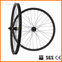 Cheap CarbonBikeKits XCS29-27T carbon superlite wheel 29er 27mm wide thru-axle carbon fiber bike wheels