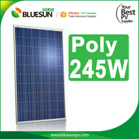 Poly solar panel 245w 245watt 245wp best price for home solar system