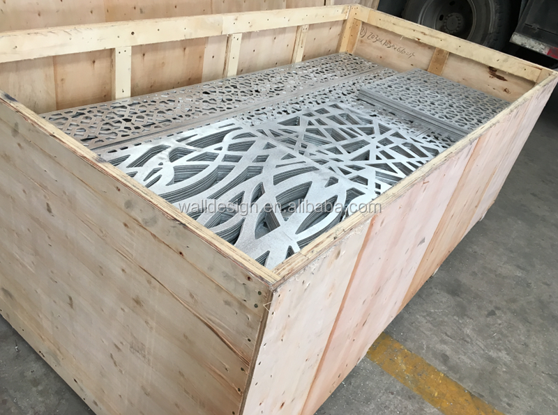 CNC aluminum perforated wall panel for screen decoration