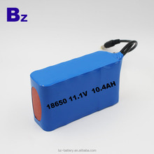 BZ18650 3S4P 11.1V 10400mah polymer li-ion rechargeable battery pack for power tool