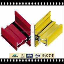 High quality extruded aluminium profile to make doors and windows