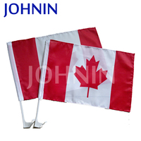 Polyester Promotional Hanging Window Custom Car Canada Flag