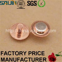 China Manufacturer Electrical Component Contact Rivet Small Metal Parts Copper Tube Terminals for Electric Utility