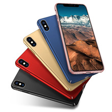 High quality phone case cover 360 degree protect matte PC case for iPhone X cover with phone case packaging