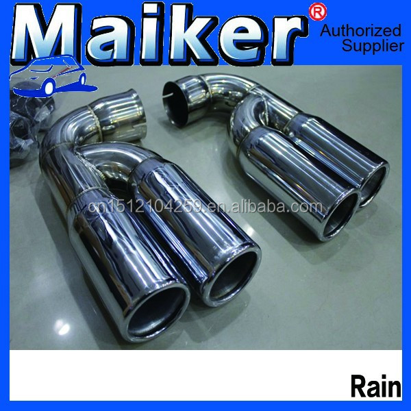 exterior accessories for cars Muffler Pipes Tail throat Exhaust System For Volkswagen Touareg 02-10