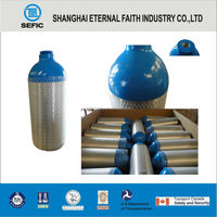 Different Sizes High Pure Aluminium Gas bottle Portable Oxygen Cylinder