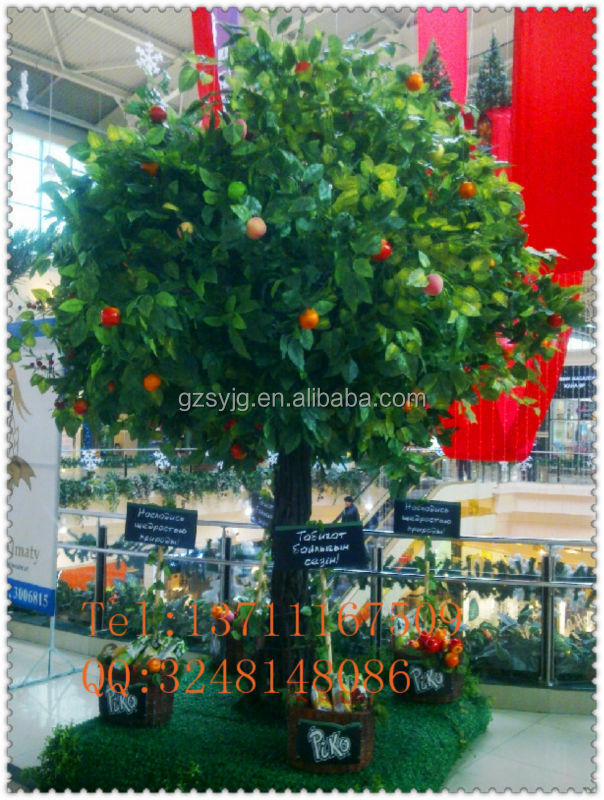 decorative fake artificial apple trees, ornamental apple tree plants, plastic fake simulation apple branch