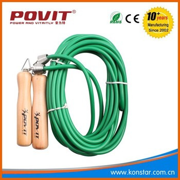 10 M team jump rope, wooden PVC skipping rope
