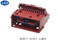(211PL209S2055) red 20 pin male composite series electrical auto plastic housing waterproof connector