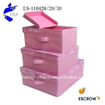 Storage Box With Separate Foldable Cover