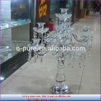 New design factory price single block crystal candle holder