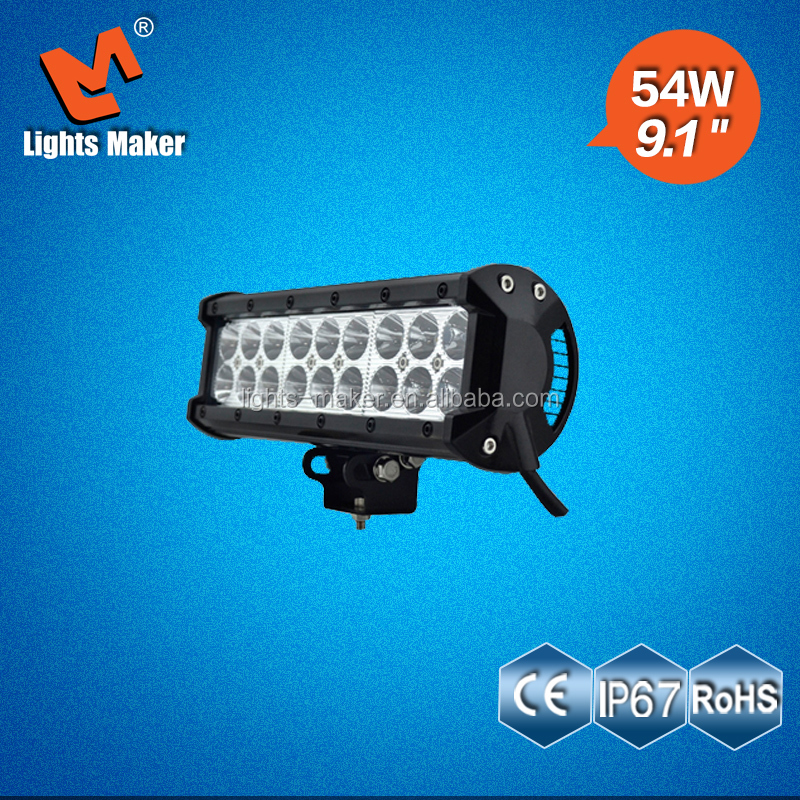 9inch 54w Car accessories used American LED light bar for off road/ATV/motorcycle/heavy-duty /suv night light LML-C2054