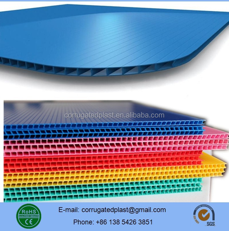 Polypropylene Corrugated Fluted Plastic Sheets/Boards
