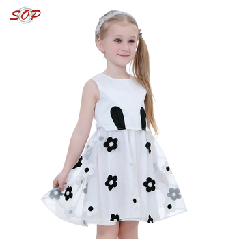 Pretty girl's garment dresses for girls of 10 years old children frock design
