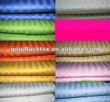 100% polyester stripe microfiber dying bed sheet fabric