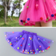 Wholesale Baby Kids Girls Pom Pom Balls Dress With Colorful Ruffles Baby Girl Tutu Skirt