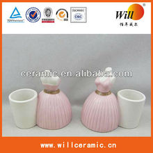 ceramic novelty toothpick holder dress design