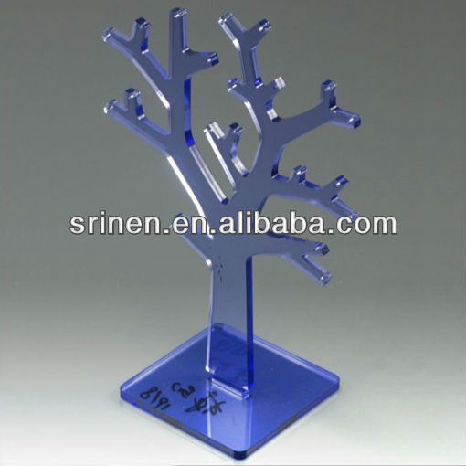 Tree shaped acrylic necklet display