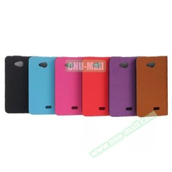 Wood Texture PU Leather Case Flip Cover for LG F60