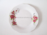 big serving dishes and plates with printings