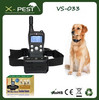 Visson wholesale VS-033 smart dog control device, remote dog electric training bark stop collar, waterproof dog shock collars