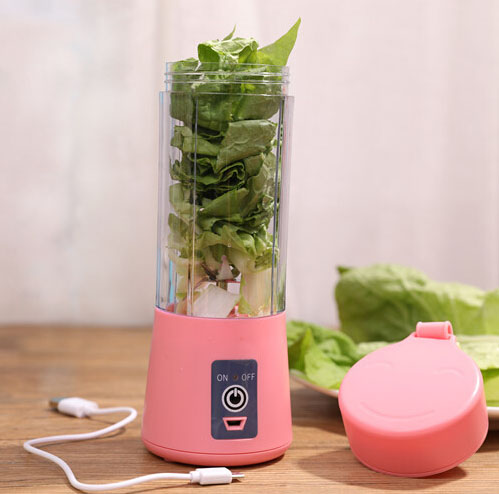 Electric Fruit Vegetable Juicer Machine Mini Portable USB Rechargeable Blender Shake And Take Juice