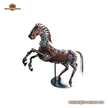 Horse model sculpture outdoor decoration metal crafts animal large animal sculpture for sale