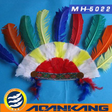 comely indian feather headgear for adult ---China supplier