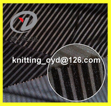 Haining100% polyester spandex velour fabric with black stripe brushed pile for women cloth