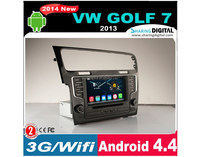 7 inch 2 din golf 7 android 4.4 DVD player Support Google Play Store