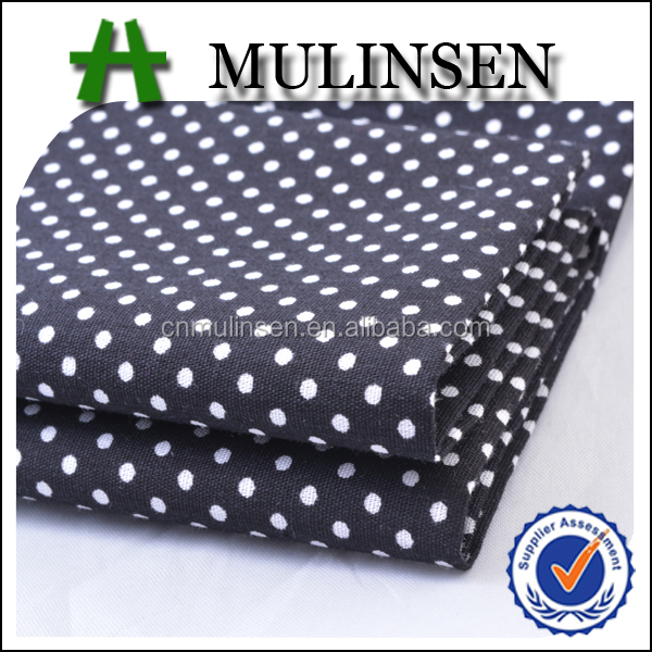 Mulinsen Textile Woven 100% Combed 40s Poplin Polka Dot Wholesale Cotton Fabric
