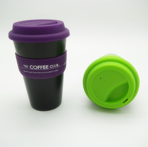 Soft Rubber Cap plastic Coffee Cups