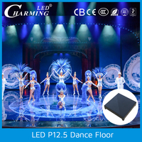 PC control led floor video stage and club video show/dance with the music