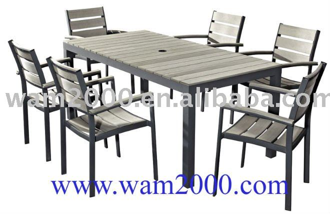 patio garden poly wood dining table and chair buy poly wood dining table and table and chairspatio table and 6 chairs product on alibaba