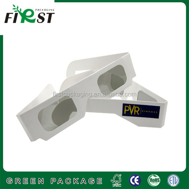 paper cardboard christmas rainbow glasses,3d rave prism glasses/white frame glases 3d linear paper with custom logo