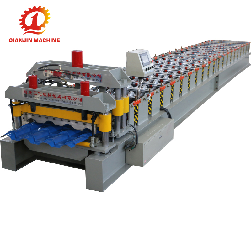 Metal Roofing Glazed Tile Roll Forming Machine, Machine Steel Roof Tile Glazed