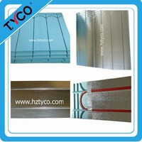 Water Underfloor Heating 12mm Diffuser Aluminum Plate for 16mm Insulation Panel