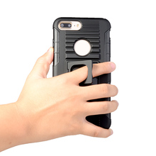 Cellphone rubber phone case with kickstand for iPhone 7 plus