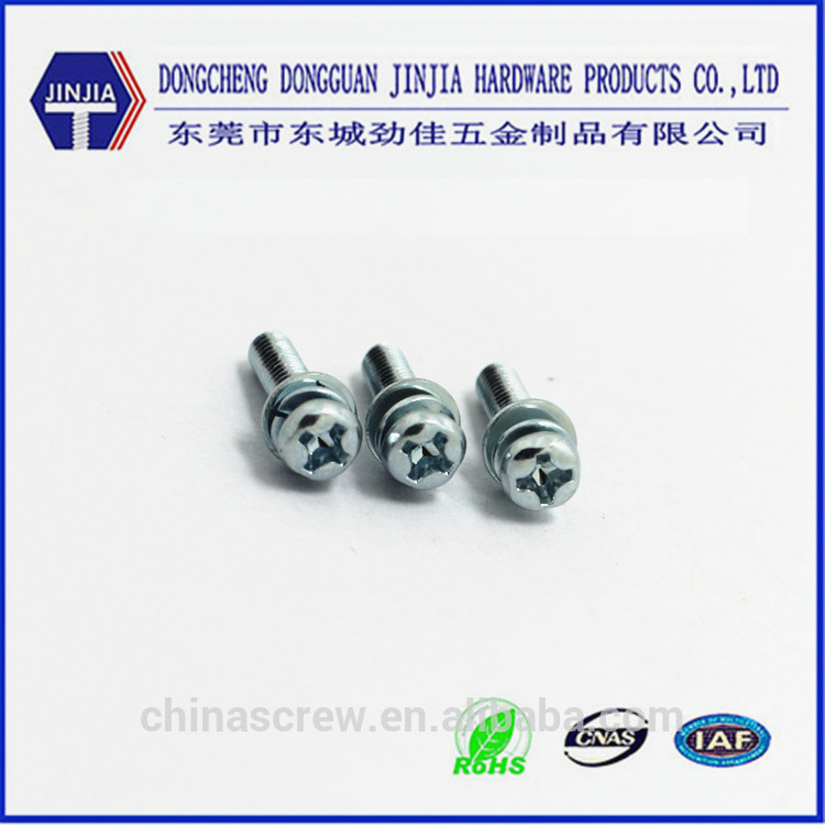 cross recess pan head phillips square washer head combination screws