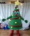 HOLA hot christmas tree mascot costume/christmas costume for adult