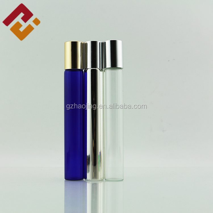 factory price 3ml 5ml 10ml nice perfume custom roll on glass bottle with stainless steel roller ball