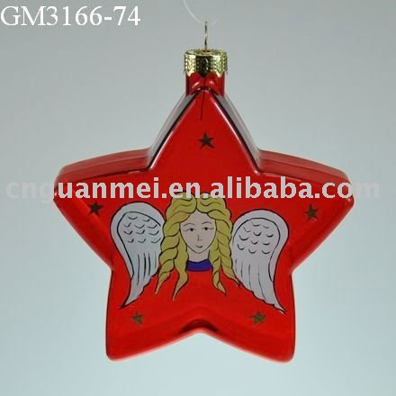 hanging chirstmas glass decoration