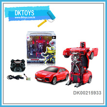Hot Sale 2.4G R/C Robot Transform Car Remove Control Popular Fashion Red Quality Kids Toys