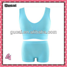 Gucai 2015 Alibaba Yiwu Seamless Women Underwear Sex Dress Bra Set