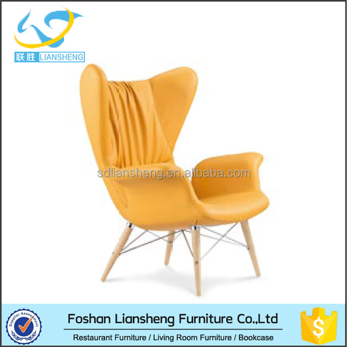 Vintage french style Leather Leisure PU sofa <strong>chair</strong> for living room and hotel