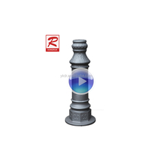 China aluminum foundry supply aluminum sand casting decorative street lighting pole
