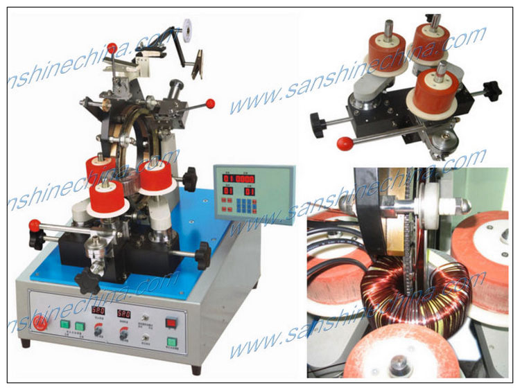 Gear type toroidal coil winder