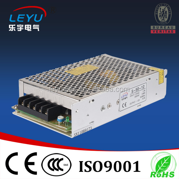 Hot Selling MS-50 single output led driver 50W 12v 24v mini size ac dc power supply