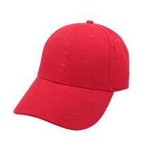 China Brand Manufacturer Use Good Material Custom Cheap Casual Sports Red Baseball Cap Women