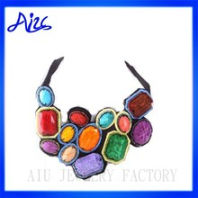 fashion jewelry rainbow statement necklace collar design